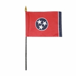 """4"""" X 6"""" Tennessee Stick Flags"""