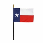 "4"" X 6"" Texas Stick Flags"
