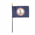"4"" X 6"" Virginia Stick Flags"