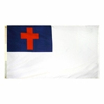 5' X 8' Nylon Christian Flag