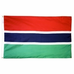 5' X 8' Nylon Gambia Flag