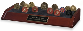 6-Row Challenge Coin Display