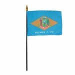 "8"" X 12"" Delaware Stick Flags"