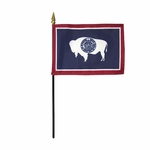 "8"" X 12"" Wyoming Stick Flags"
