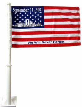 911 Remembrance Car Flag