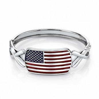 American Flag Bangle Bracelet with Awareness Ribbons