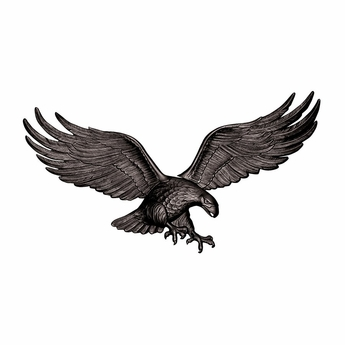 Antique Black Patriotic Eagle