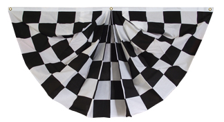 Black & White Checkered Fan