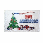 Buy American Christmas Flag