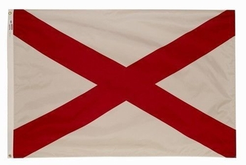 Commercial Grade All-Weather Alabama State Flags