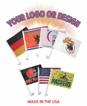 Custom Double-Sided Polyester Car Flags