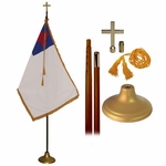 Deluxe 9' Christian Flag Set