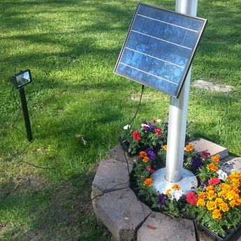 Super-Bright LED Solar Flagpole Light