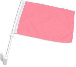 Double-Sided Pink Car Flag