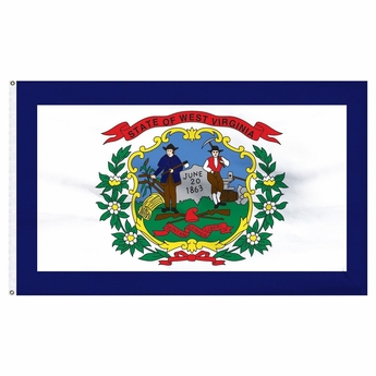 Economy Printed West Virginia State Flag
