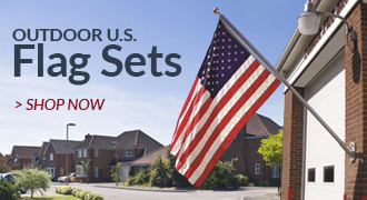 Outdoor U.S. Flag Sets