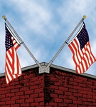 Franklin Series Double Corner Flagpole Set