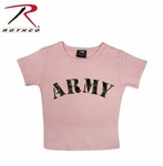 Girls Pink Army T-Shirt