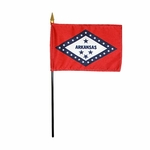 Handheld Arkansas State Flags
