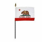 Handheld California State Flags