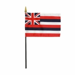 Handheld Hawaii State Flags