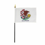 Handheld Illinois State Flags
