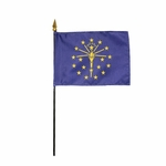 Handheld Indiana State Flags