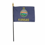 Handheld Kansas State Flags