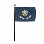 Handheld Louisiana State Flags