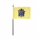 Handheld New Jersey State Flags