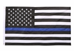 Heavyweight Nylon Thin Blue Line US Flag - Made in USA