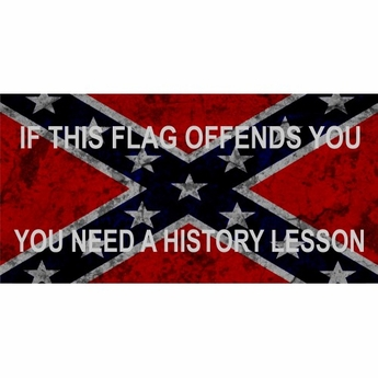 If This Flag Offends You Rebel Confederate License Plate