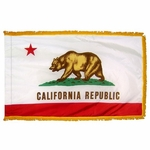 Indoor and Parade California State Flags - Fringed and Unfringed