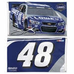 Jimmie Johnson Two-Sided NASCAR Flag