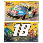 Kyle Busch Two-Sided NASCAR Flag