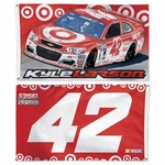 Kyle Larson Two-Sided NASCAR Flag