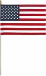 Lightweight Cotton US Flag with Pointed Bottom Tip