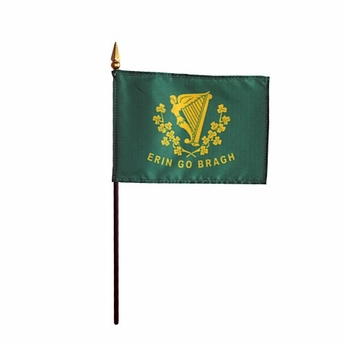 Mounted Erin Go Bragh Stick Flags