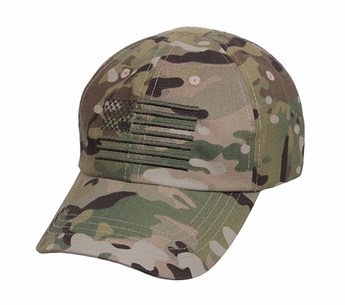 Multicam Tactical Operator Cap with US Flag