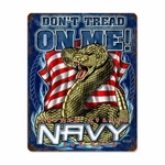 Navy Don't Tread On Me Steel Sign