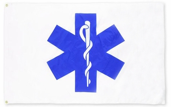 Nylon Star of Life Flag