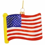 Old Glory Glass Christmas Ornament