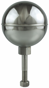Stainless Steel Mirror Finish Outdoor Flagpole Ornament