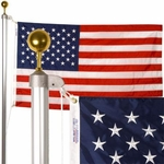 Patriot 20' Residential Aluminum Flagpole Set