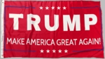 Patriot Red Donald Trump 2016 Flag