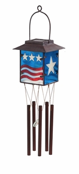 Patriotic Solar Wind Chime
