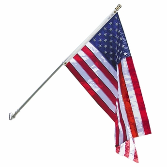 Premium Spinning Pole US Flag Set