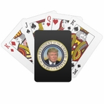 President Trump Photo Presidential Seal Playing Cards