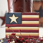 Primitive Americana Wood Flag