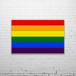 Rainbow Flag Wall Art